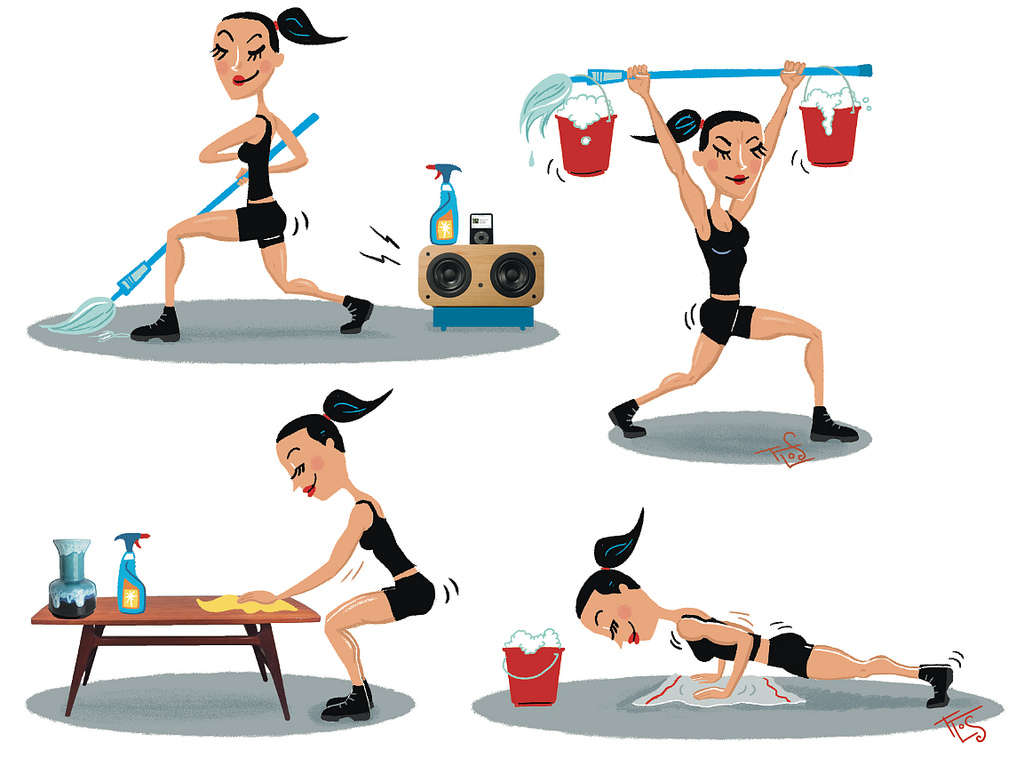 build a workout into your cleaning routine